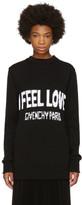 Givenchy Black 'I Feel Love' Sweater