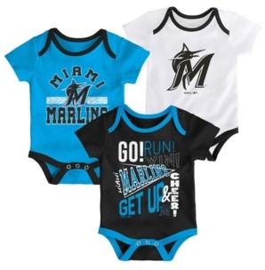Outerstuff Baby Miami Marlins Newest Rookie 3 Piece Bodysuit Set