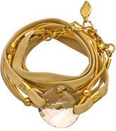 Sara Designs Creme Crystal Triple Wrap Bracelet