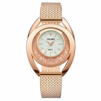 LABIUO Women's Casual Quartz Plastic Leather Band New Strap Watch Analog Wrist Watch