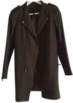 BCBGMAXAZRIA Khaki Wool Coat for Women