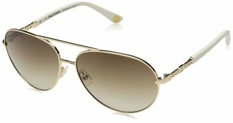 Juicy Couture Women's Ju 582/s Aviator Sunglasses GOLD IVORY 58 mm