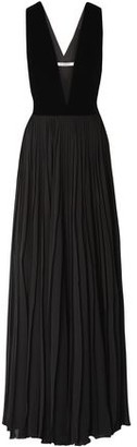 Givenchy Velvet And Pleated Chiffon Gown