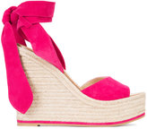 Paul Andrew wedge sandals - women - Suede/Leather/rubber - 36