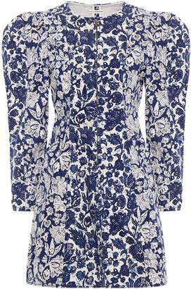 Ulla Johnson Gathered Floral-print Denim Mini Dress