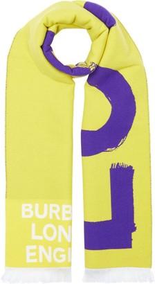 Burberry Love And Logo Jacquard Scarf