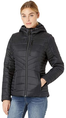 Spyder Glissade Hoodie Insulator Jacket (Black) Women's Coat