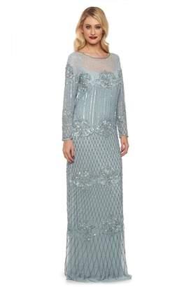 Gatsbylady London Dolores Maxi Prom Dress in Vintage Blue