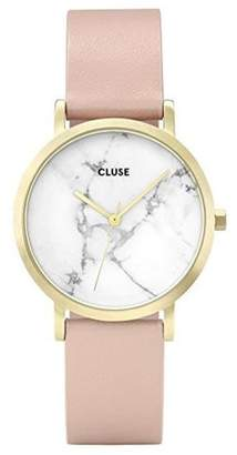 Cluse Womens Analogue Classic Quartz Connected Wrist Watch with Leather Strap CL40101
