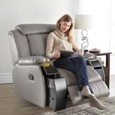 'Monica IV' Leather-Look Manual Recliner With Heat And Vibration