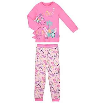 Camilla And Marc Girls Long Sleeve Pyjamas Dino Girl Pink - Size - 10 Years (140 cm)