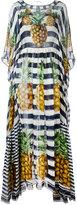 Dolce & Gabbana pineapple striped dress - women - Silk - 38