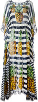 Dolce & Gabbana pineapple striped dress - women - Silk - 42
