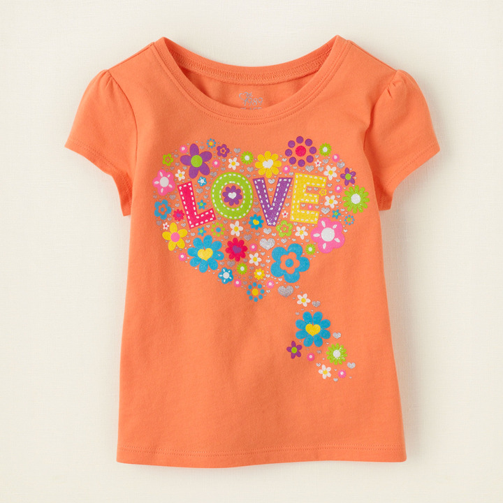 Children's Place Love flowers graphic tee