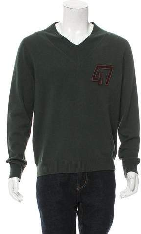 Christian Dior Leather-Trimmed Wool Sweater w/ Tags