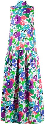Plan C Tulip Print Maxi Dress