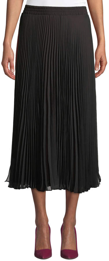 Max Studio Pleated Skirt with Contrast Lining