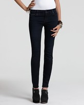 "7 For All Mankind Gwenevere"" Skinny Jeans in Black Coast Wash"
