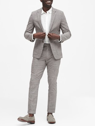 Banana Republic Slim Italian Plaid Suit Jacket