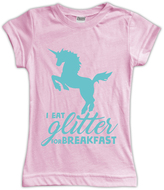Urban Smalls Pink 'I Eat Glitter for Breakfast' Fitted Tee - Toddler & Girls