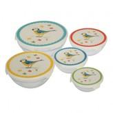 REX Set of 5 Blue Tit Bowls
