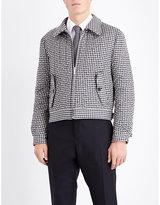 Thom Browne Harrington Gingham-print Cotton-blend Jacket