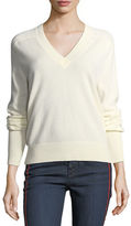 Veronica Beard Deacon V-Neck Cashmere Pullover Sweater