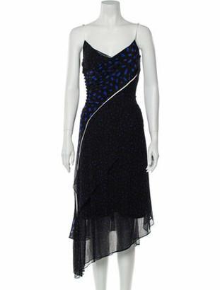 Grey By Jason Wu Silk Midi Length Dress Grey