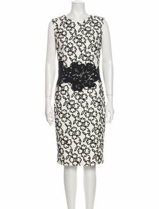 Oscar de la Renta 2014 Knee-Length Dress White