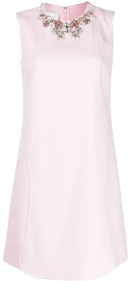 Giambattista Valli Jewelled-Neck Mini Dress