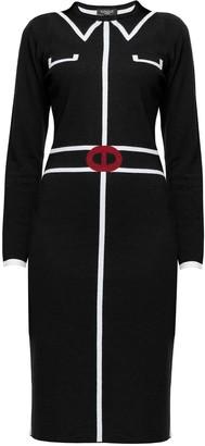 Rumour London Claire Black Jacquard Dress