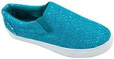 Turquoise Lace Slip-On Sneaker