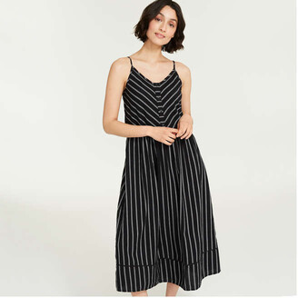 Joe Fresh Women's Button Bodice Sundress, Black (Size M)
