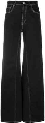 Erika Cavallini High-Waisted Flared Jeans