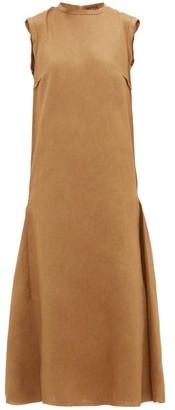 ALBUS LUMEN Agaso Sleeveless Linen Dress - Womens - Camel