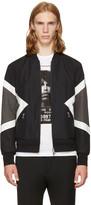 Neil Barrett Black Modernist Bomber Jacket
