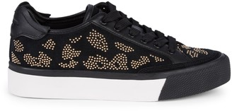 Rag & Bone Studded Suede & Leather Platform Sneakers