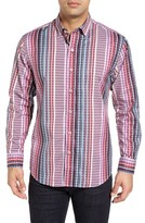 Tommy Bahama Men's Big & Tall Silva Stripe Sport Shirt