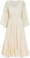 Rhode Resort Emily Lurex Striped Cotton Dress