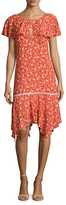 ABS by Allen Schwartz Floral Capelet Dress