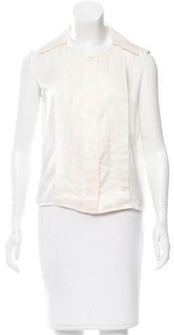 Chanel Pleated Sleeveless Top