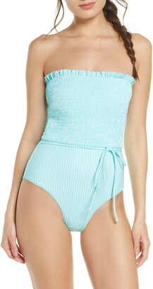 Chelsea28 Smocked One-Piece Swimsuit