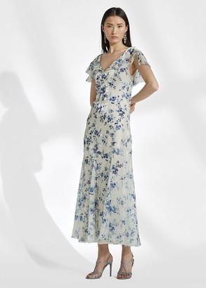 Ralph Lauren Kegan Floral Evening Dress