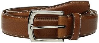 Johnston & Murphy Topstitch Belt (Tan) Men's Belts