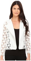 Yigal Azrouel Lace Moto Leather Jacket