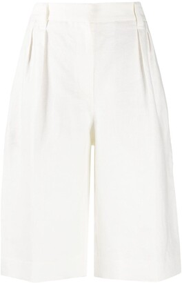 Brunello Cucinelli Pleated Wide-Leg Bermuda Shorts