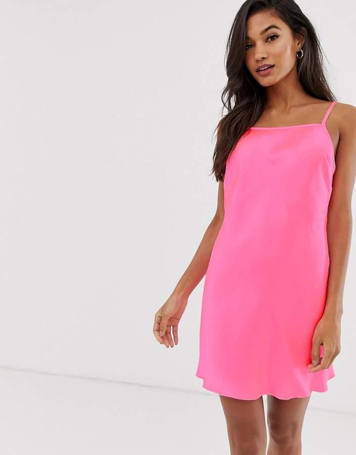 0b2354173dde Pink Satin Slip - ShopStyle
