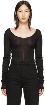 Lemaire Black Bare Shoulder Second Skin Sweater