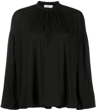 Closed Tie Neck Blouse