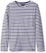 French Connection Men's Long Sleeve Stripe Crew Neck T-Shirt